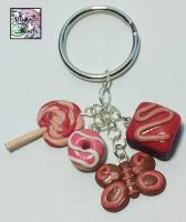 Valentines Keyring by prismaticpearls