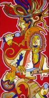 Bob Marley, Dylan, Mercury, Knopfler by Evilpainter