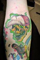 hot rodder skull tattoo by m40a2