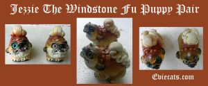 Jezzie the Windstone Fu Puppy Pair by Eviecats