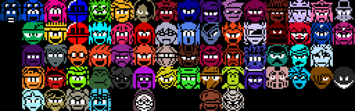 Aozora's Advenutre Pixel Character Icons by Superjustinbros