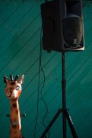 Giraffe and Speaker by NccWarp9