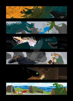 How to Train Your Dragon Colour Script by Oliwollyoctosaurus