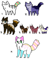 Assorted Adopts (OPEN) by Neon-Spots-Adopts