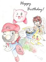 Happy Birthday Super smash bro by yellowhima