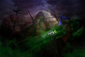 Ninja Turtles In Throgs Neck by bobbyboggs182