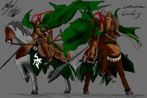 Concept: Lemurian Cavalry by PeterPrime