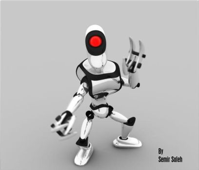 little Robot white by crazy-horse