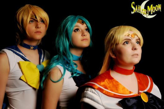 Sailor Scouts Anime North by DMinorChrystalis