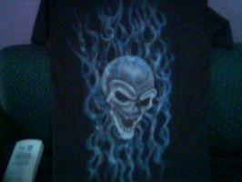 SKULL BLUE FLAMES 1 by javiercr69