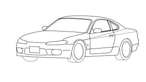 nissan silvia s-15 Outline by ragingpixels