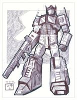 Optimus Prime - Pen Sketch by MichaelCrichlow