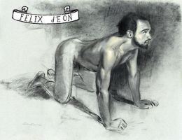 Kneeling Nude Male by TheMaleNudeStock