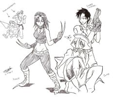 My Marvel vs Capcom 3 Team by NayaaseBeleguii