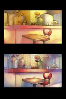 Diner Layout Painting 1 + 2 by ChanpART
