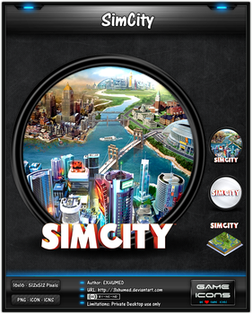 SimCity (2013) - Game Icon Pack by 3xhumed