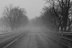 Fog on the Road by sillverrfoxx