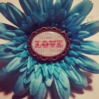 Blue love Hair Clip by LW-Lucy