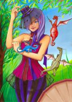Mes dragons aiment les bonbons (colo) by Pikamine