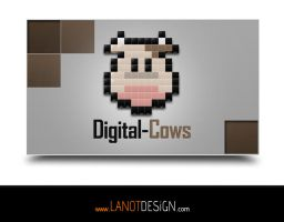 Digital-Cows.com Logo Design by LanotDesign