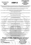 NDAA Flyer2 - Fight for your Privacy #IDP13 by OpGraffiti