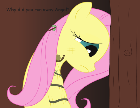 Fluttershy and the time traveling Angel by NightTactician