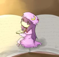 Reading inside a book by kiiakiia
