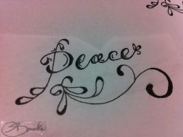 another peace tattoo by DontEvenTripBro