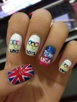 Olympic nails by xsheervanilla