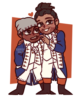 Hercules and Lafayette by RoorenSama
