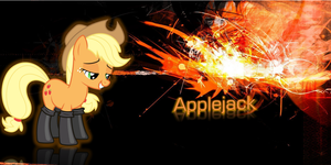 MLP - Applejack inside Abstract Uber Orange by nhanminhle750