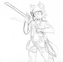 Doodle: Connor Scouting Legion Attire by TheIcedWolf