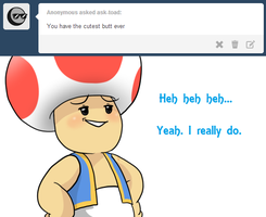 Ask Toad - Cute Butt by pocket-arsenal