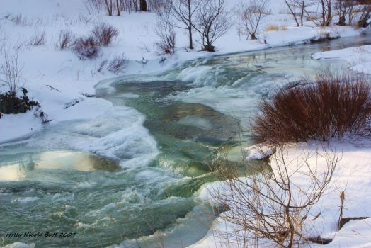 winter river by alkaholly