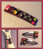 Sushi Jewelry by Gimmeswords