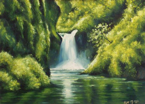 Waterfall by mp2015