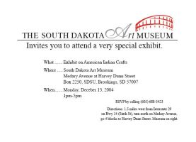 South Dakota Art Museum Flyer by tjgitter