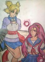 (AT) Temari vs Athena by Malebeja