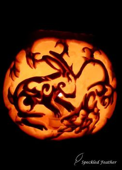 Pumpkin Carving for Halloween by Speckled-Feather