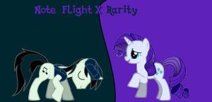 Note Flight X Rarity by mariokidd319