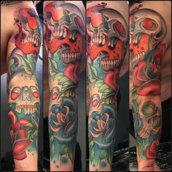 Freehand Colour Sleeve by itchysack
