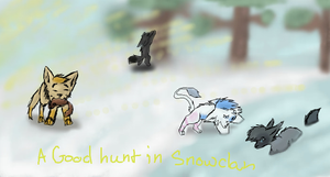Snowclan is hunting by Warriorcatss-Club