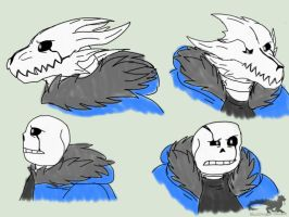 Undertale: B!C.S with Scars -sketches- by BlackDragon-Studios