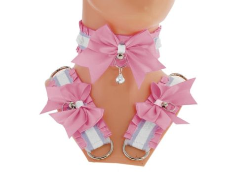 Kitten play collar and cuffs , bdsm , ddlg by Eusebie