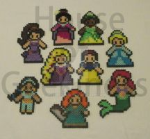 Disney Inspired Princess Perler Collection by ReinaLaura