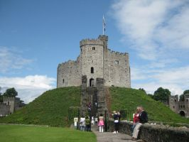 Cardiff Castle 4 by Hrivalasse-stock