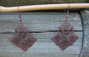 Coper Chandelier earrings by Lost-in-the-day