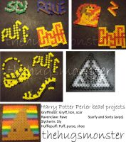 HP Perler bead projects :) by thehugsmonster