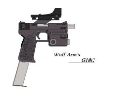 Wolf Arm's G18C -accessories- by GriffinDogR34