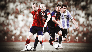 MessiIniesta Two Colors Are Enough by UntouchedDesigns